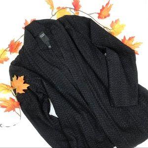 Eileen Fisher Cotton Woven Open Oversized Jacket L